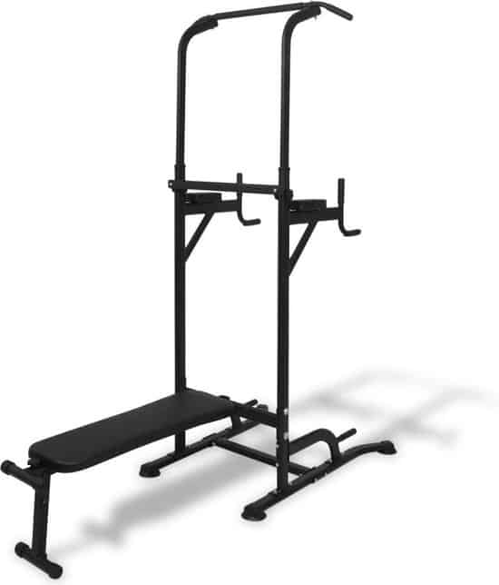 Beste pull-up bar staand: VidaXL Power Tower met sit-up bank