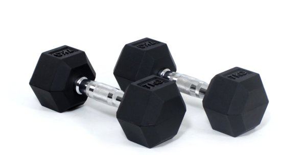 Beste rubber dumbbell Core Power Hex